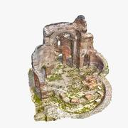 Ruines 7 - L'église rouge 3d model