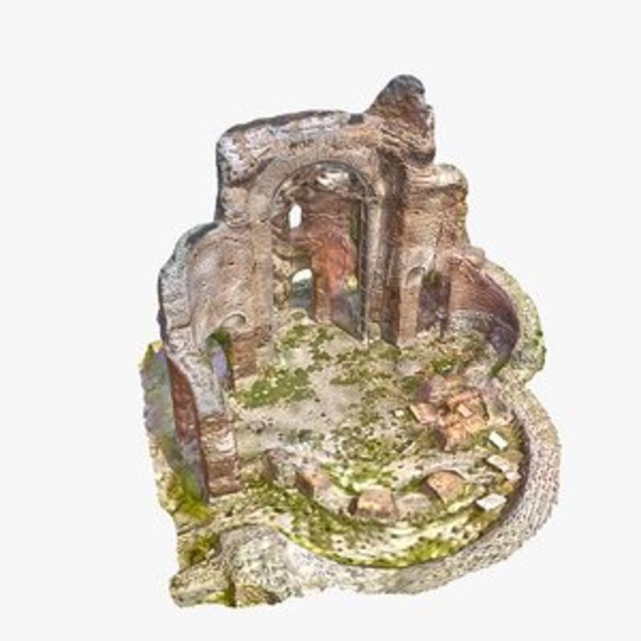 Ruïnes 7 - De rode kerk royalty-free 3d model - Preview no. 1