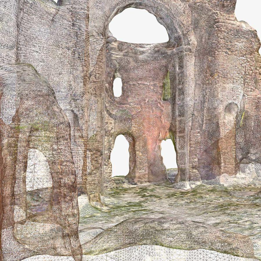 Ruïnes 7 - De rode kerk royalty-free 3d model - Preview no. 7
