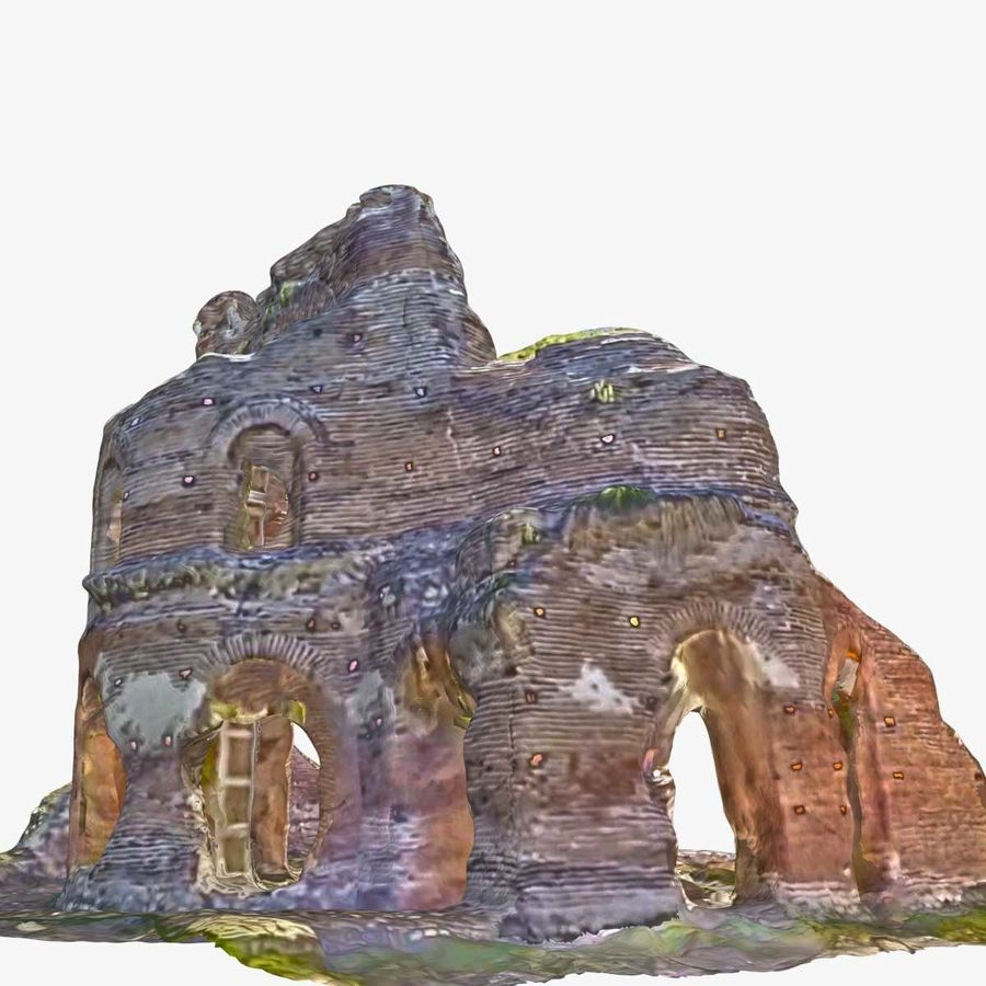 Ruïnes 7 - De rode kerk royalty-free 3d model - Preview no. 4