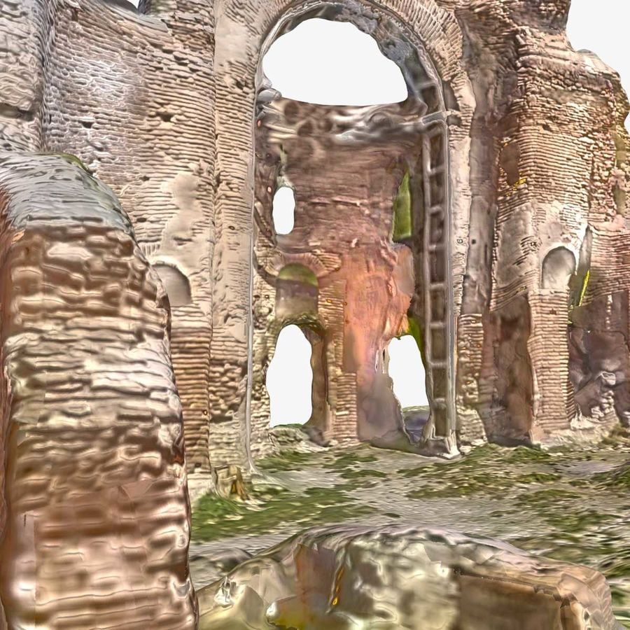 Ruins 7 - The Red Church royalty-free 3d model - Preview no. 5