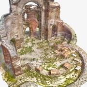 废墟7  - 红色教堂 3d model