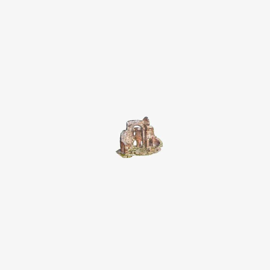Ruïnes 7 - De rode kerk royalty-free 3d model - Preview no. 8