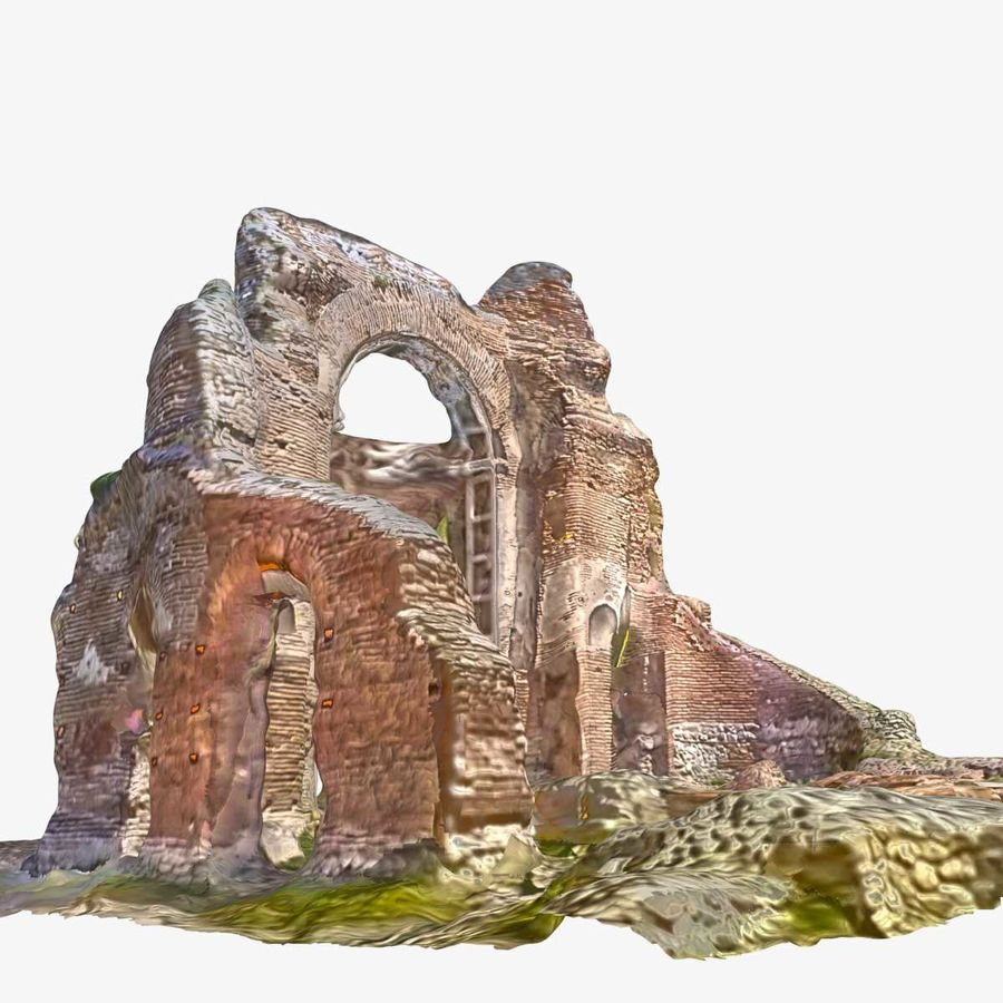 Ruins 7 - The Red Church royalty-free 3d model - Preview no. 4