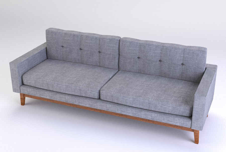 Modern Sofa royalty-free 3d model - Preview no. 4