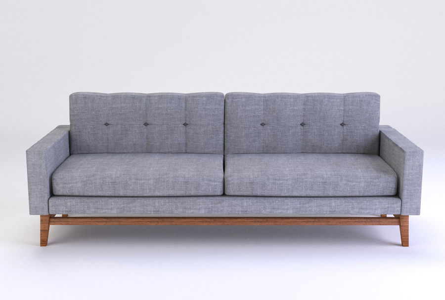 Modern Sofa royalty-free 3d model - Preview no. 3
