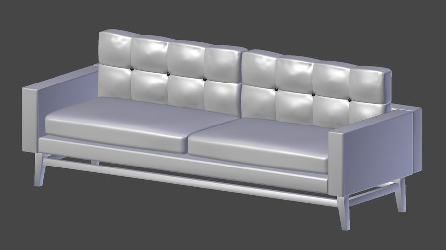 Modern Sofa royalty-free 3d model - Preview no. 6