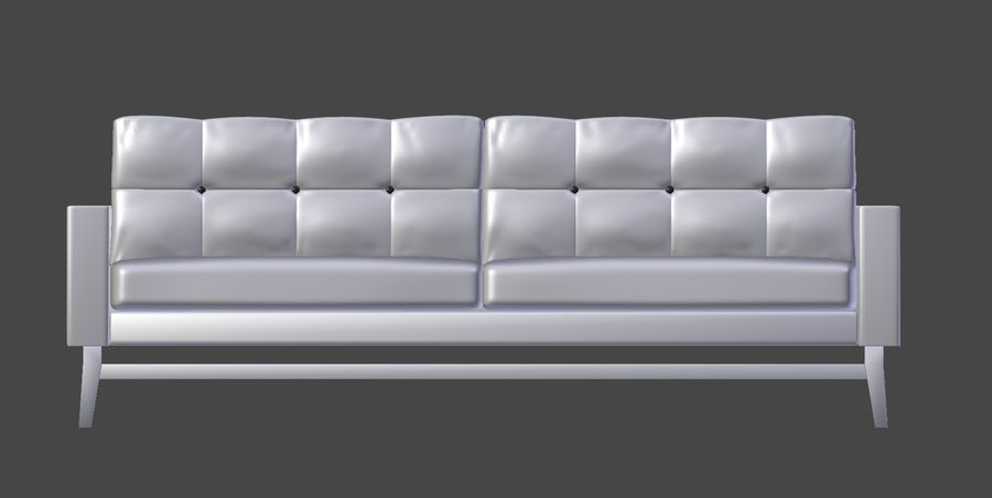 Modern Sofa royalty-free 3d model - Preview no. 5