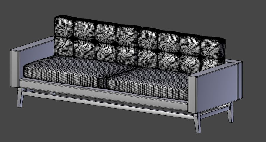 Modern Sofa royalty-free 3d model - Preview no. 8
