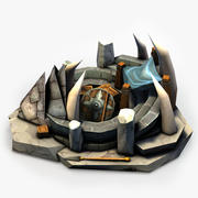 Orcs Altar (Low Poly) 3d model