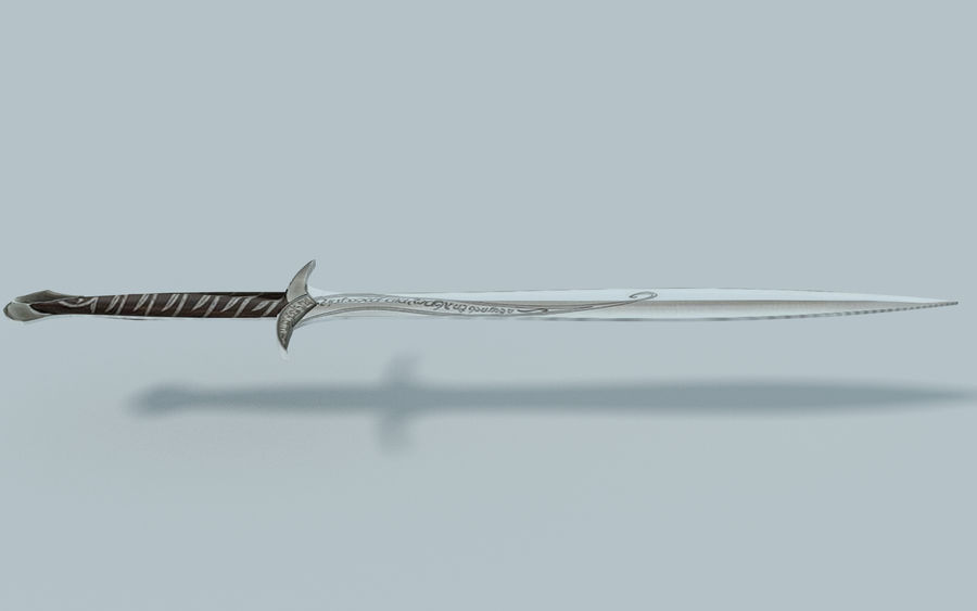 Sting-Sword from Lord of the Rings royalty-free 3d model - Preview no. 6