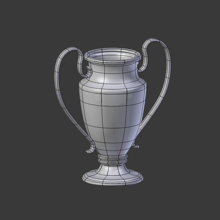 Trophy Cup V1 royalty-free 3d model - Preview no. 17