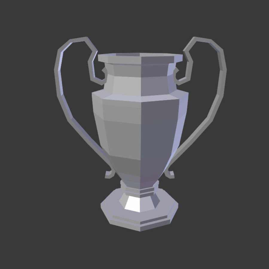 Trophy Cup V1 royalty-free 3d model - Preview no. 4