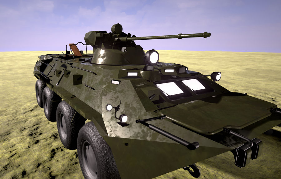 Military Tank royalty-free 3d model - Preview no. 2