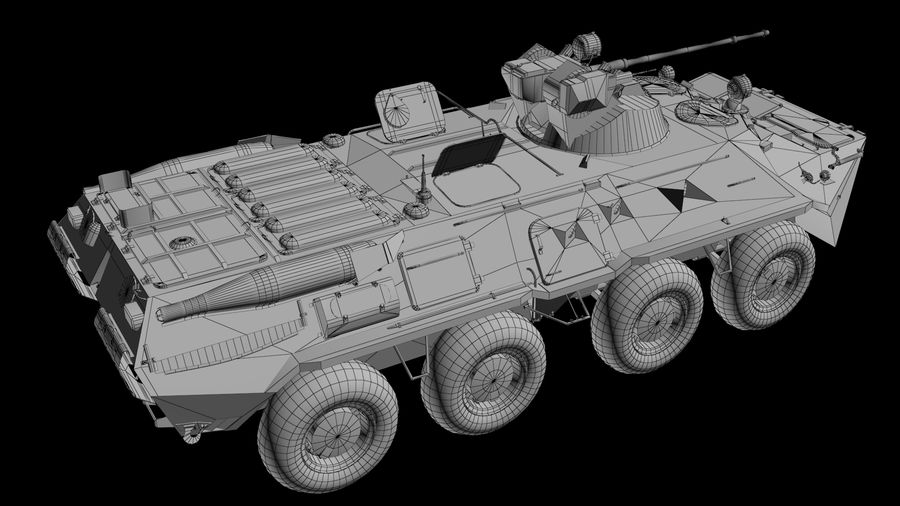 軍用戦車 royalty-free 3d model - Preview no. 6
