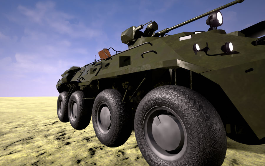 軍用戦車 royalty-free 3d model - Preview no. 3