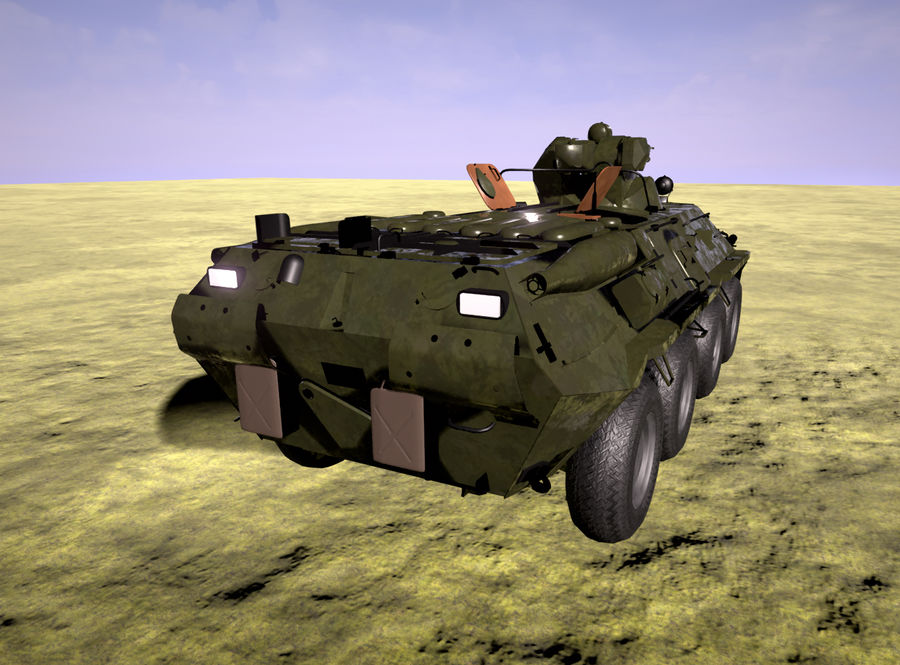Military Tank royalty-free 3d model - Preview no. 4