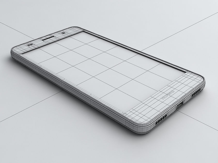 Huawei Y6 royalty-free 3d model - Preview no. 20
