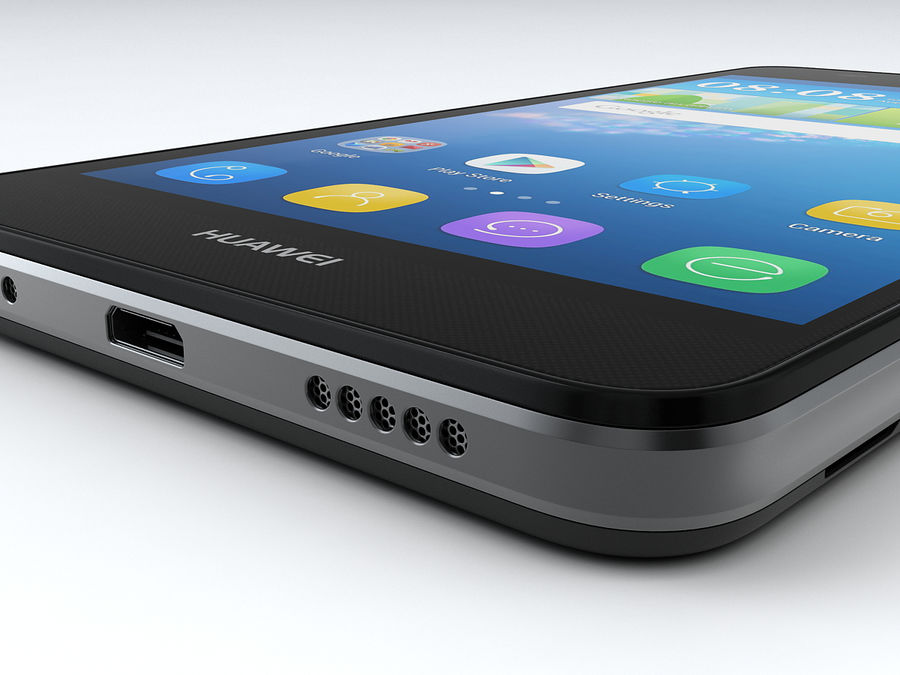 Huawei Y6 royalty-free 3d model - Preview no. 18