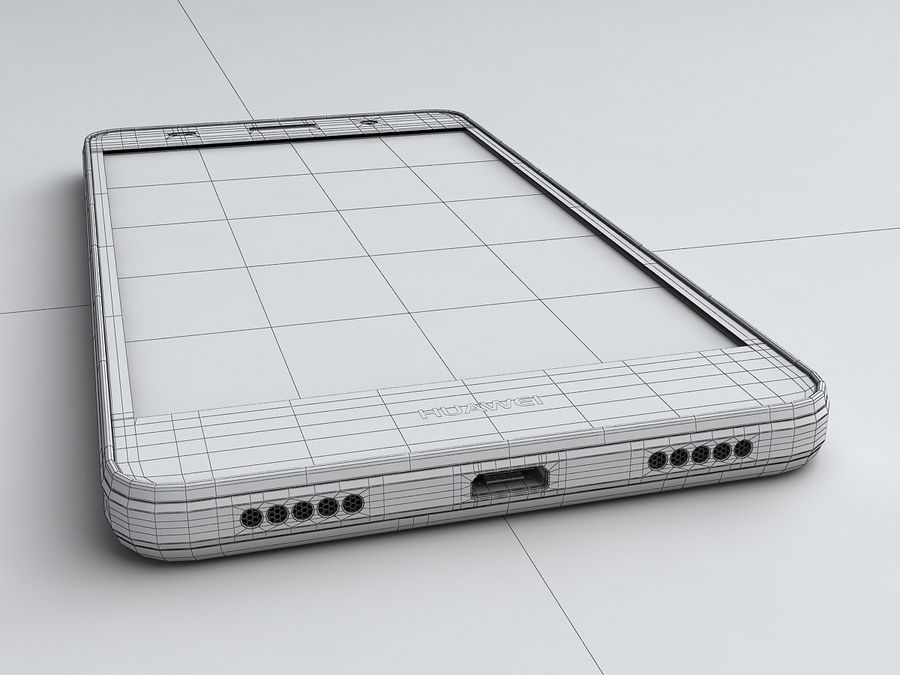 Huawei Y6 royalty-free 3d model - Preview no. 22