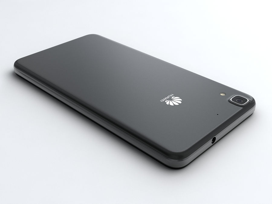 Huawei Y6 royalty-free 3d model - Preview no. 3