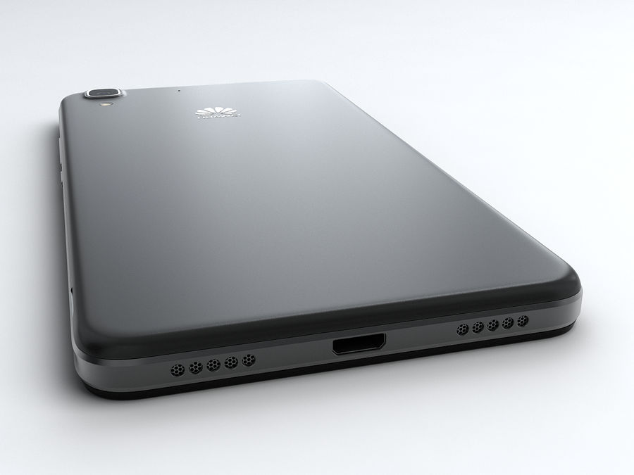 Huawei Y6 royalty-free 3d model - Preview no. 8