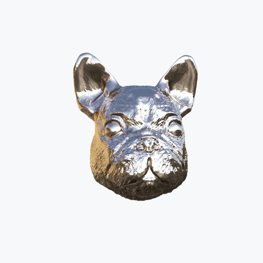 Dog Head royalty-free 3d model - Preview no. 6