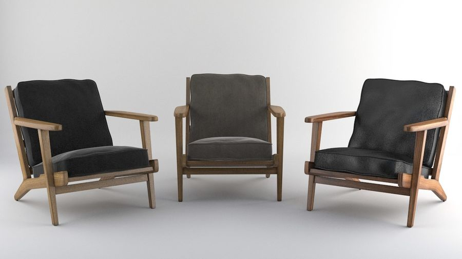 Brooks Lounge Chair (Arm chair) royalty-free 3d model - Preview no. 5
