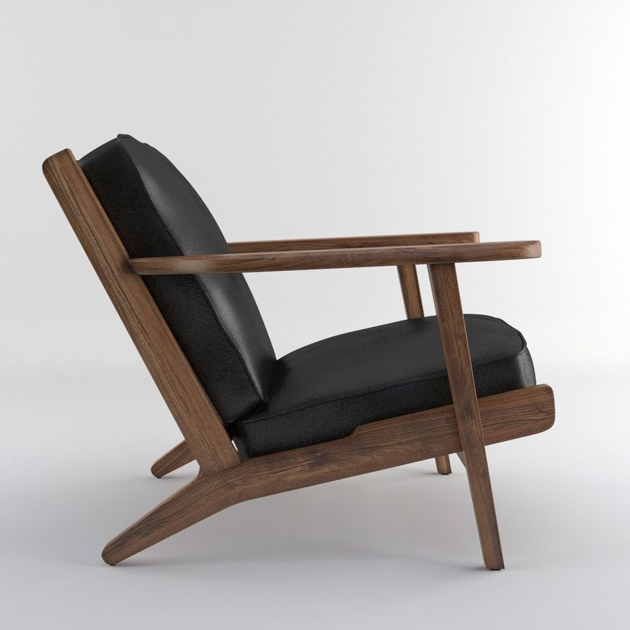 Brooks Lounge Chair (Arm chair) royalty-free 3d model - Preview no. 24
