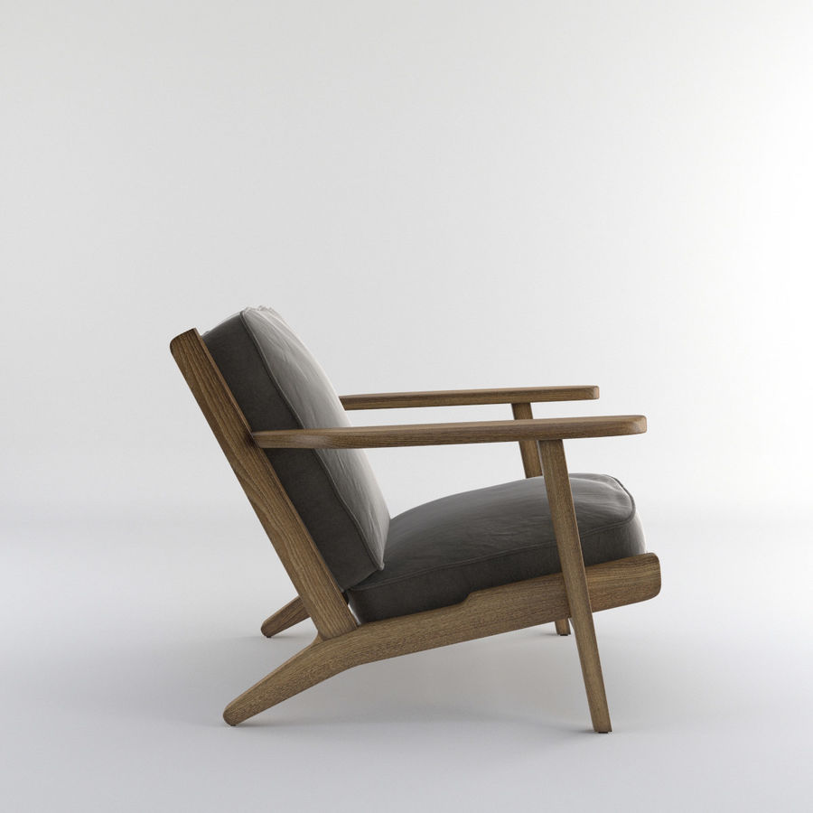 Brooks Lounge Chair (Arm chair) royalty-free 3d model - Preview no. 20