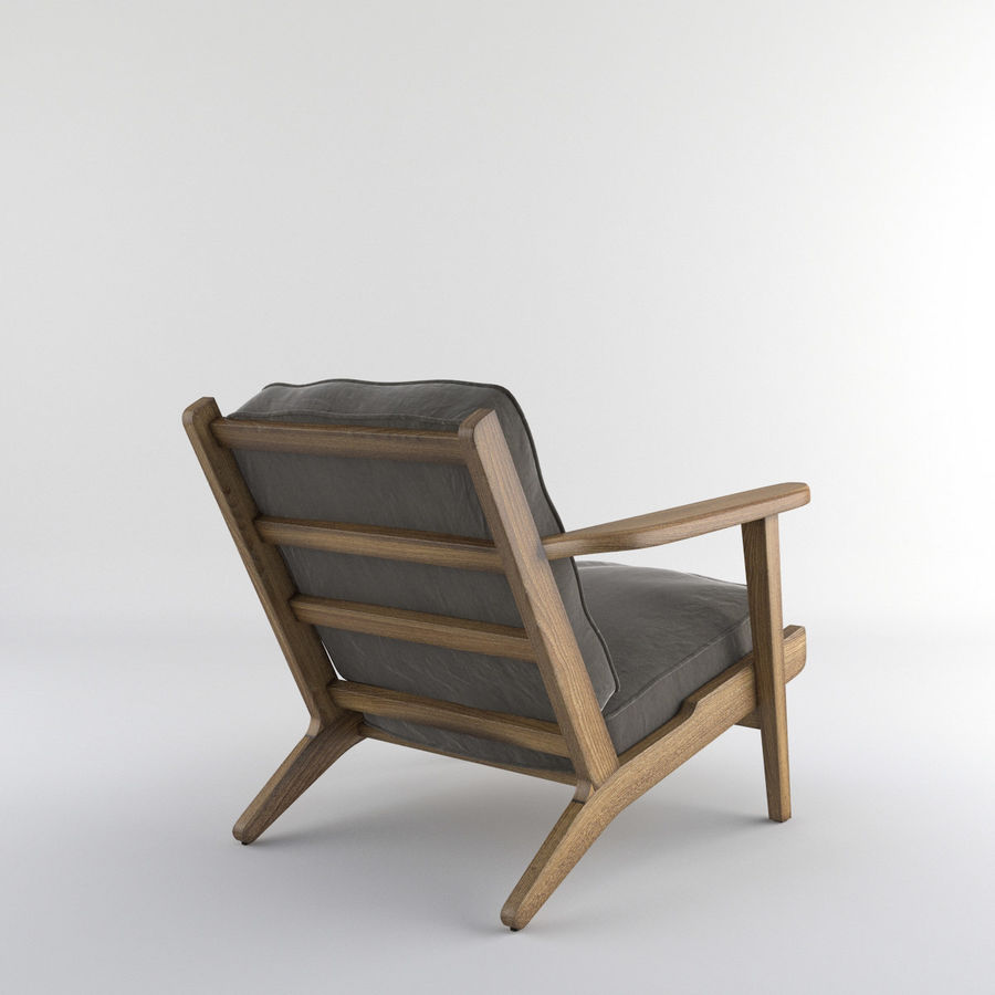 Brooks Lounge Chair (Arm chair) royalty-free 3d model - Preview no. 11