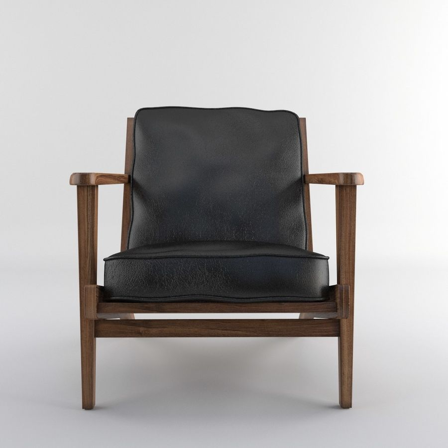 Brooks Lounge Chair (Arm chair) royalty-free 3d model - Preview no. 3