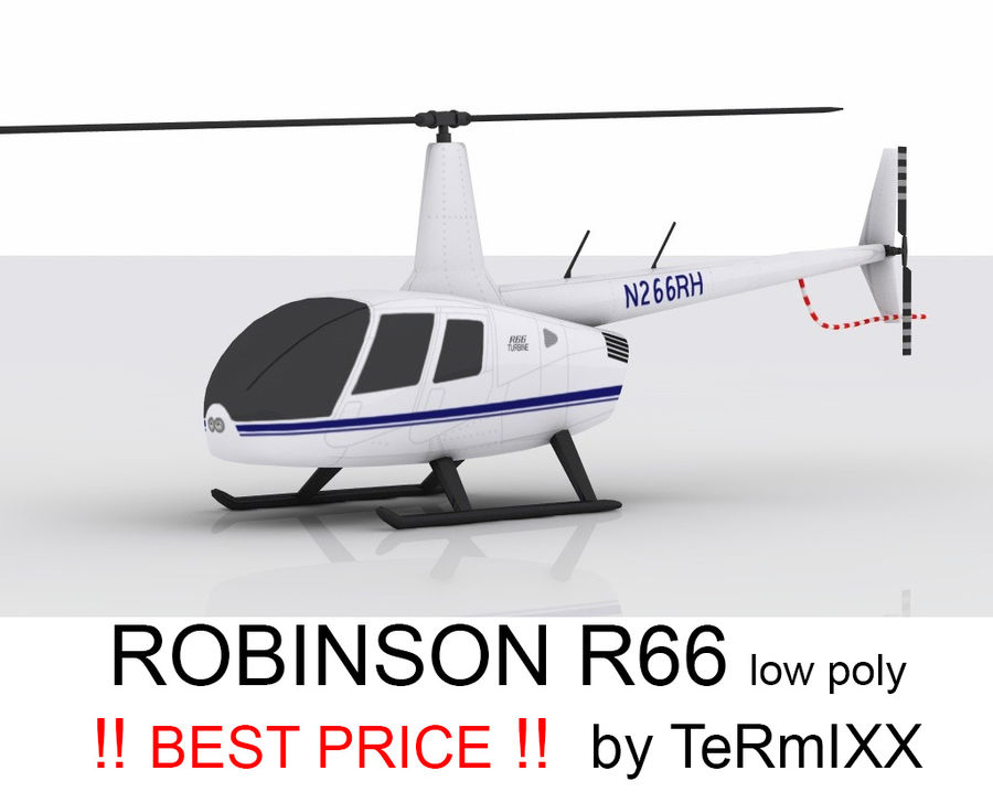 Robinson R66 Skin 1 royalty-free 3d model - Preview no. 1