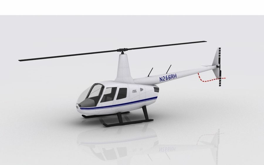 Robinson R66 Skin 1 royalty-free 3d model - Preview no. 2