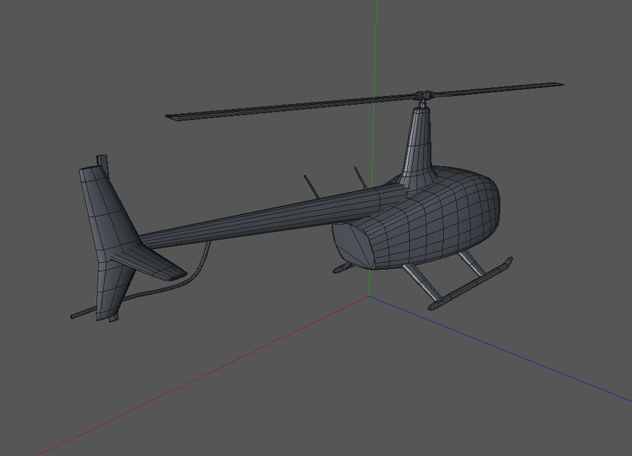 Robinson R66 Skin 1 royalty-free 3d model - Preview no. 8