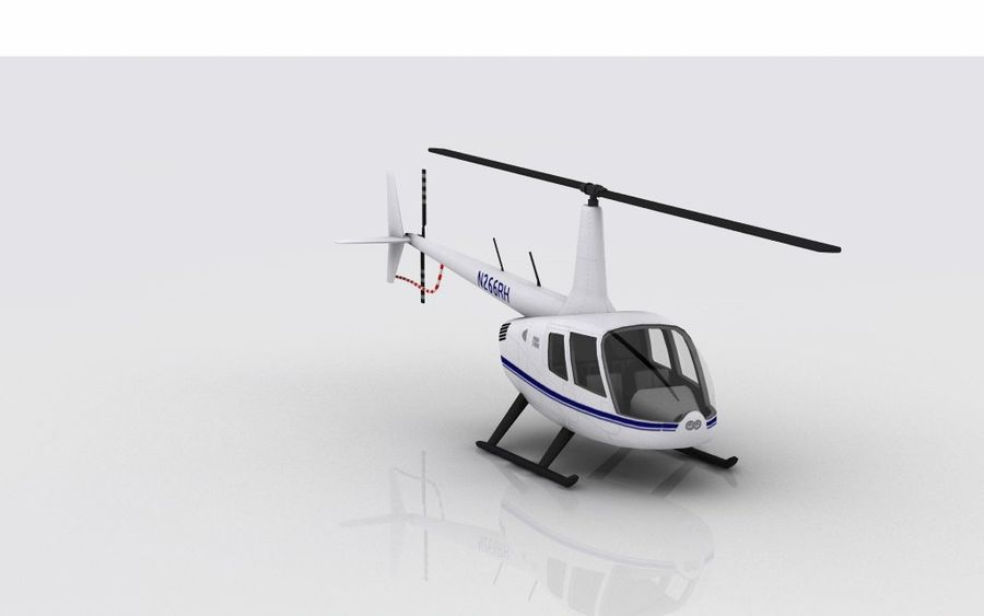 Robinson R66 Skin 1 royalty-free 3d model - Preview no. 5