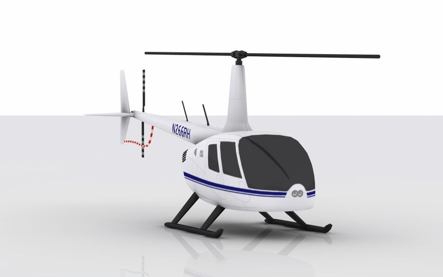 Robinson R66 Skin 1 royalty-free 3d model - Preview no. 3