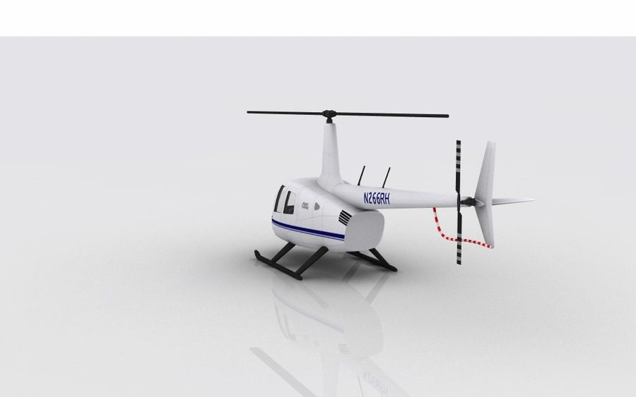 Robinson R66 Skin 1 royalty-free 3d model - Preview no. 7