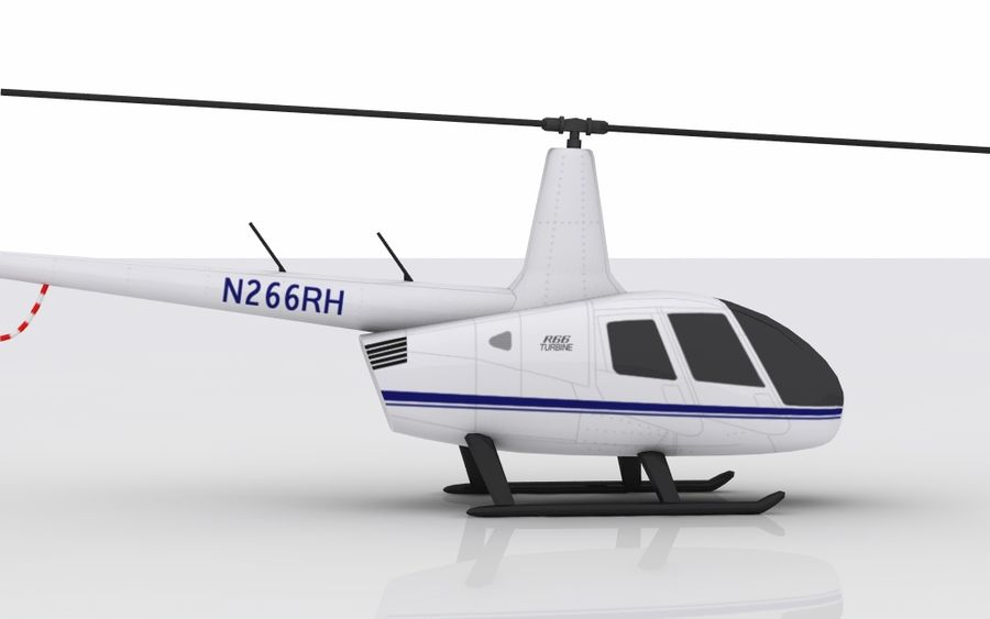 Robinson R66 Skin 1 royalty-free 3d model - Preview no. 4
