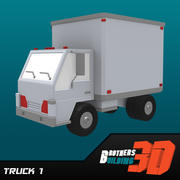 Camion bas poly 3d model