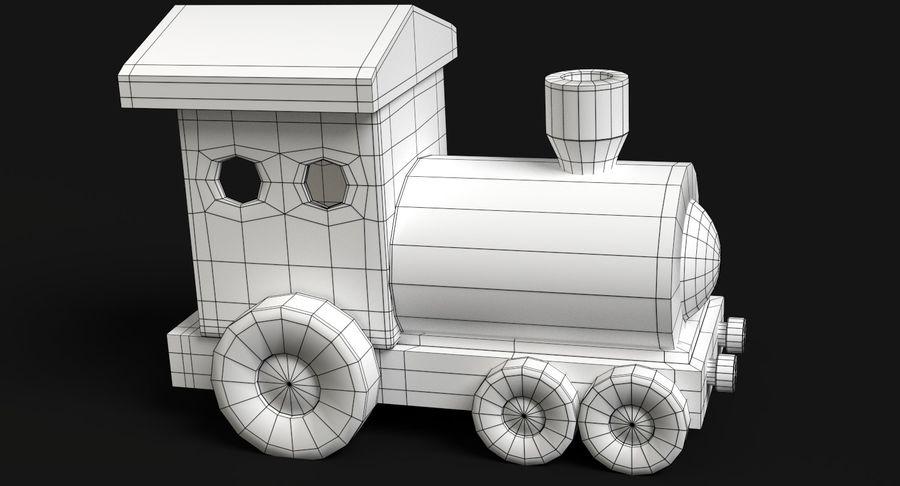 おもちゃの列車 royalty-free 3d model - Preview no. 9