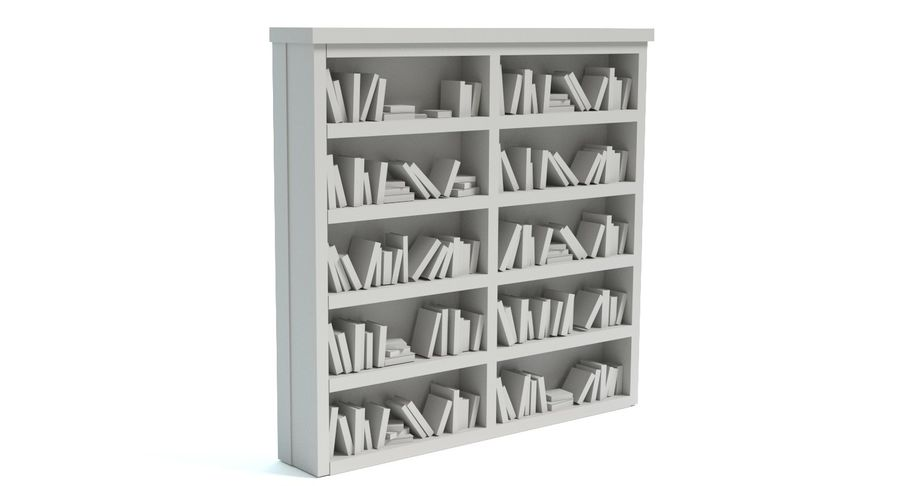 Old Bookshelf royalty-free 3d model - Preview no. 8