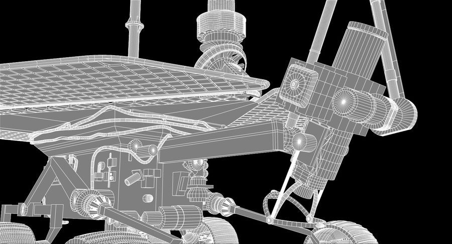 Mars Rover royalty-free 3d model - Preview no. 11