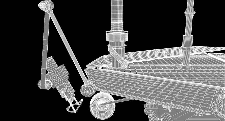 Mars Rover royalty-free 3d model - Preview no. 13