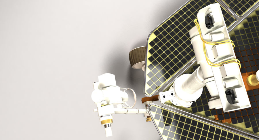 Mars Rover royalty-free 3d model - Preview no. 4
