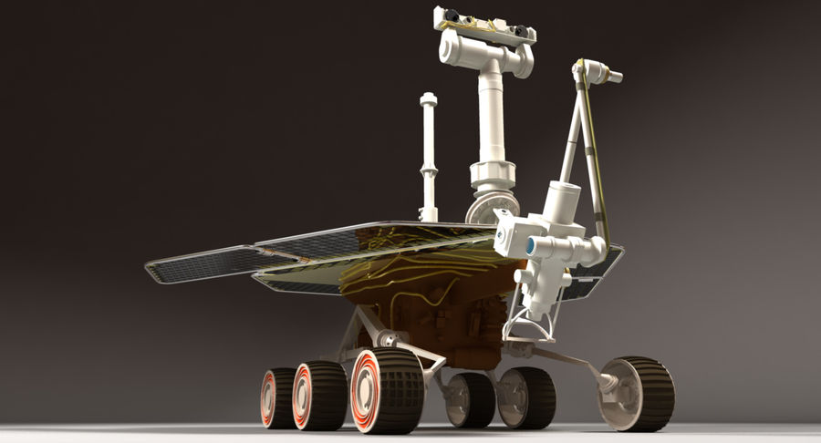 Mars Rover royalty-free 3d model - Preview no. 2