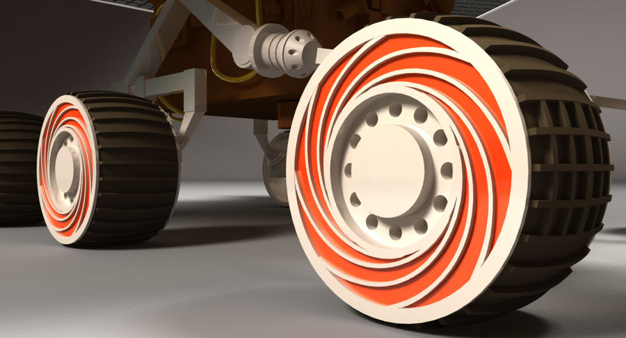 Mars Rover royalty-free 3d model - Preview no. 6
