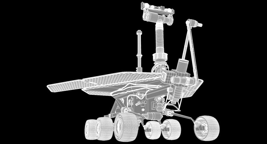 Mars Rover royalty-free 3d model - Preview no. 8