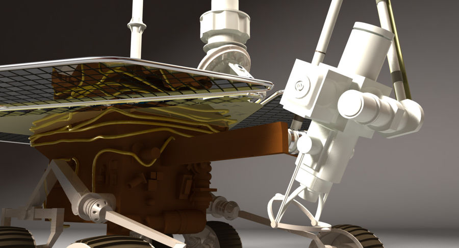 Mars Rover royalty-free 3d model - Preview no. 5