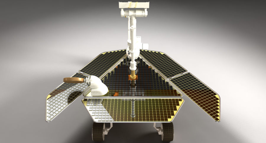 Mars Rover royalty-free 3d model - Preview no. 3